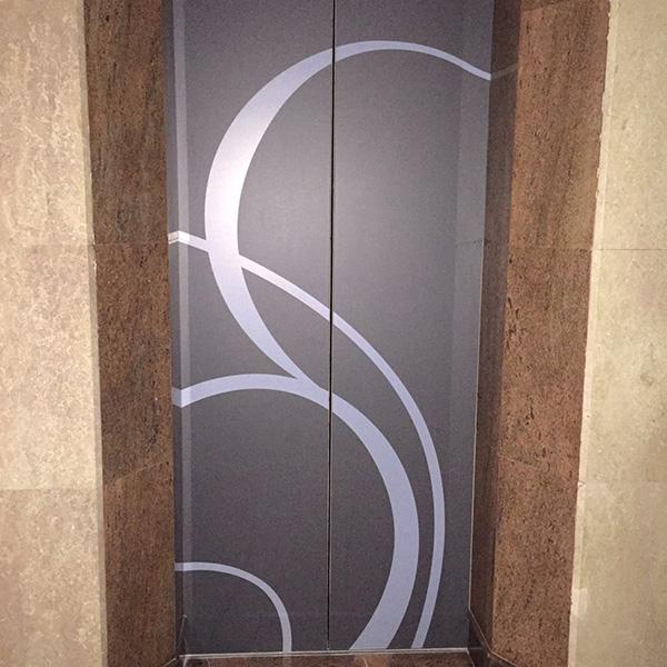 Elevator Door Sticker